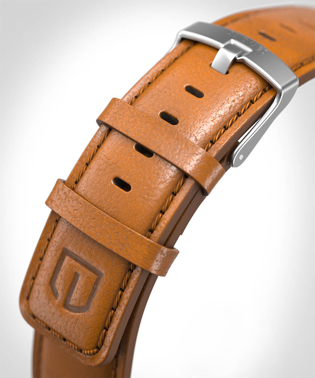 LEATHER STRAP BROWN brown - buckle: silver