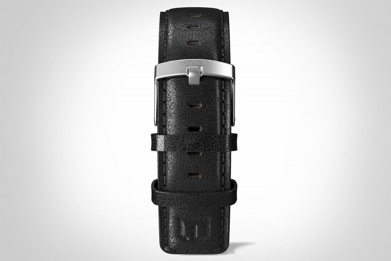 LEATHER STRAP BLACK black - buckle: silver