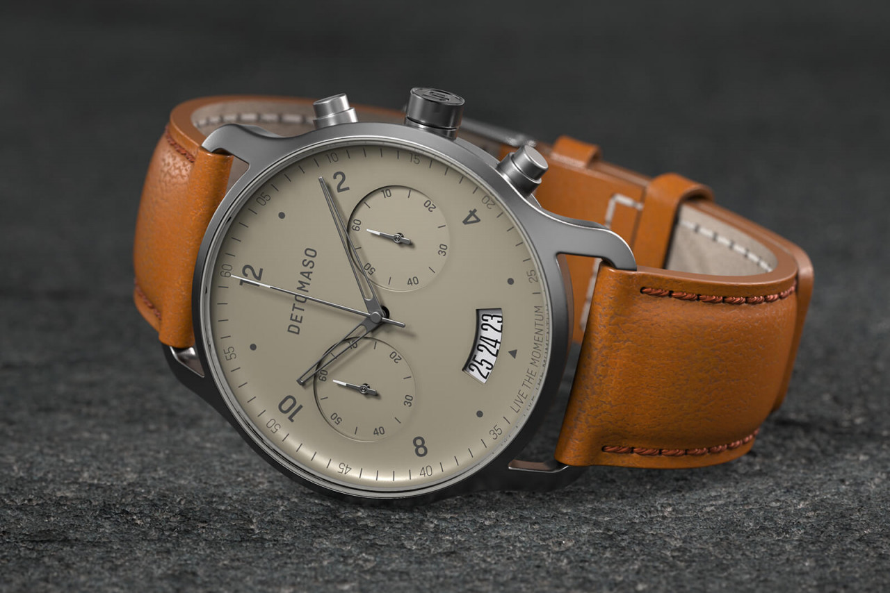 SORPASSO IVORY - LEATHER STRAP BROWN