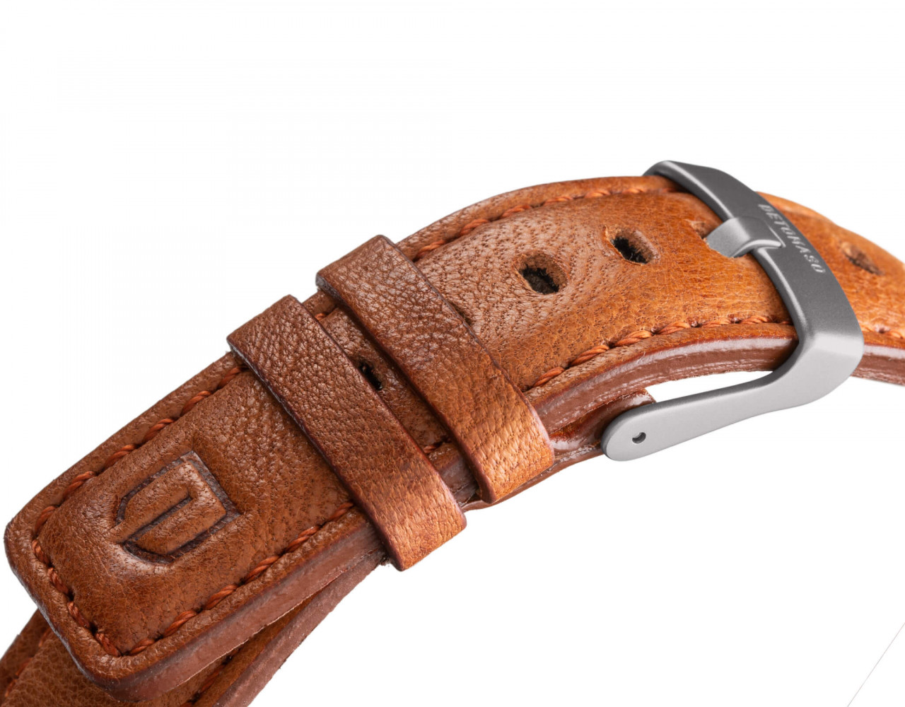 LEATHER STRAP BROWN brown - buckle: grey