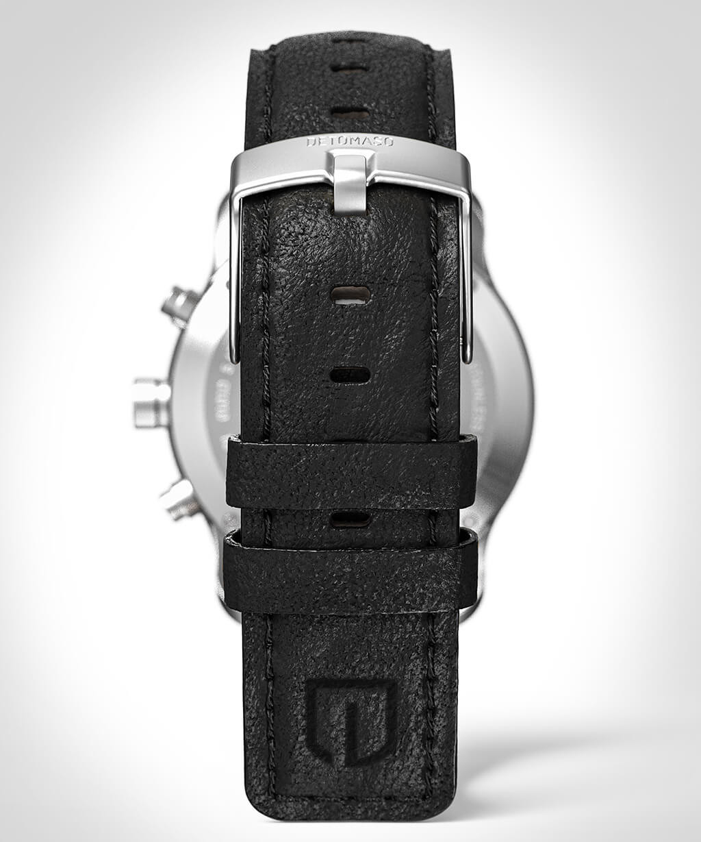 SORPASSO CHRONOGRAPH GREEN - LEATHER STRAP BLACK