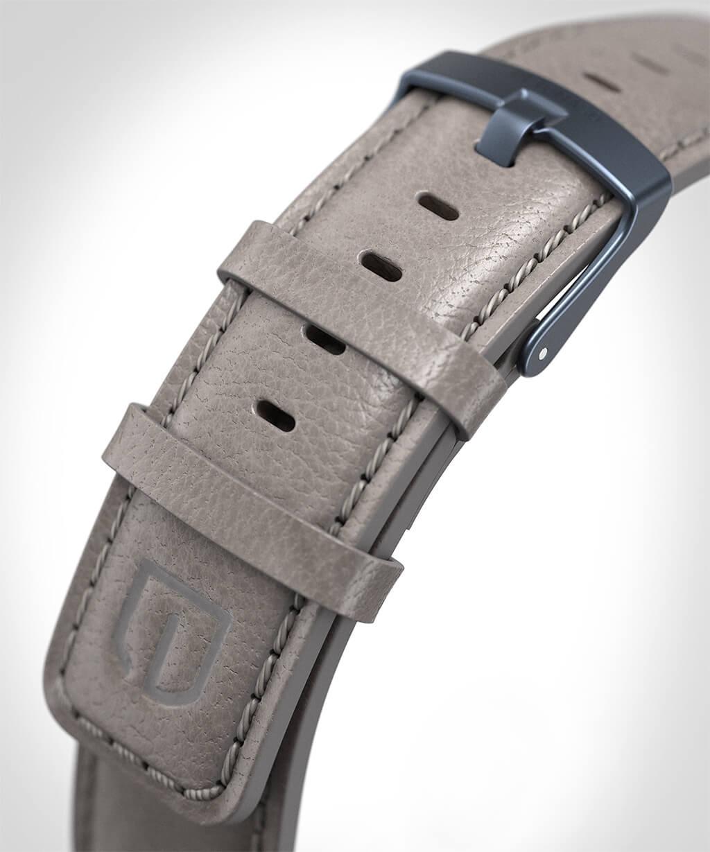 LEATHER STRAP GREY grey - buckle: blue